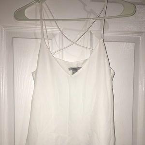 Strapped white cami